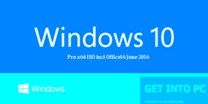 Getintopc Windows 10 Pro x64 ISO incl Office 2016 Free Download