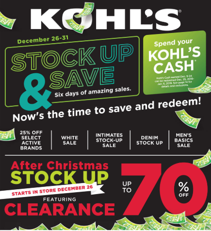 Kohls Christmas 2019 Sales & Deals