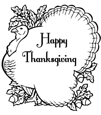 Thanksgiving Turkey images to Color and Print